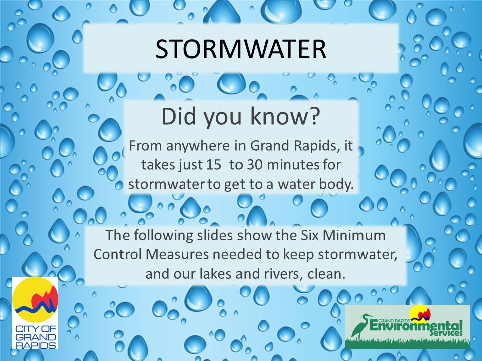 STORMWATER Did you know.