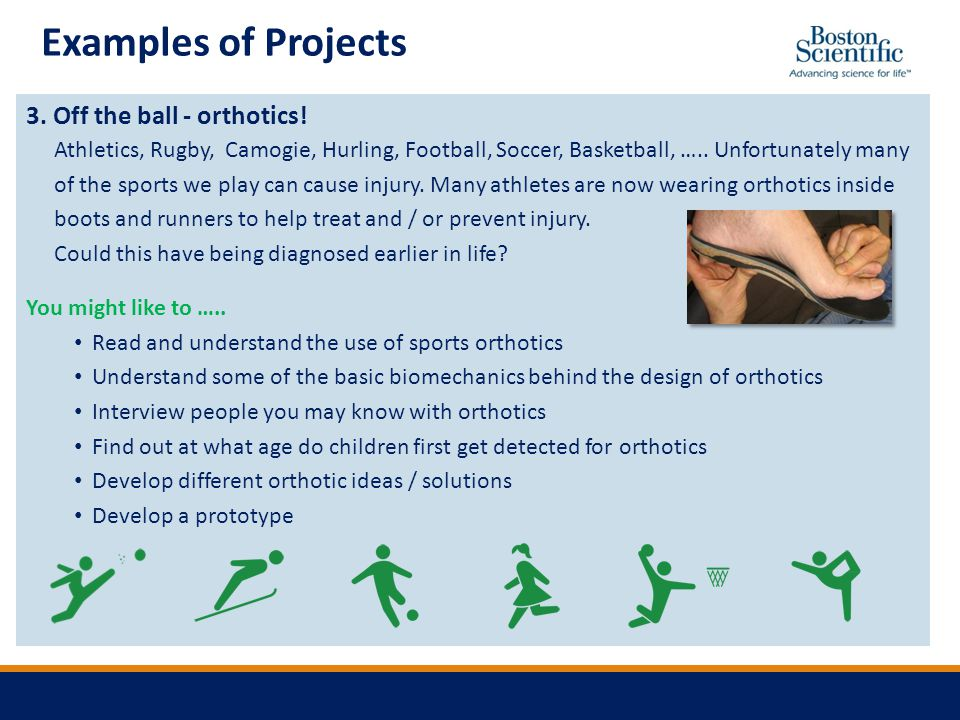 Examples of Projects 3. Off the ball - orthotics.
