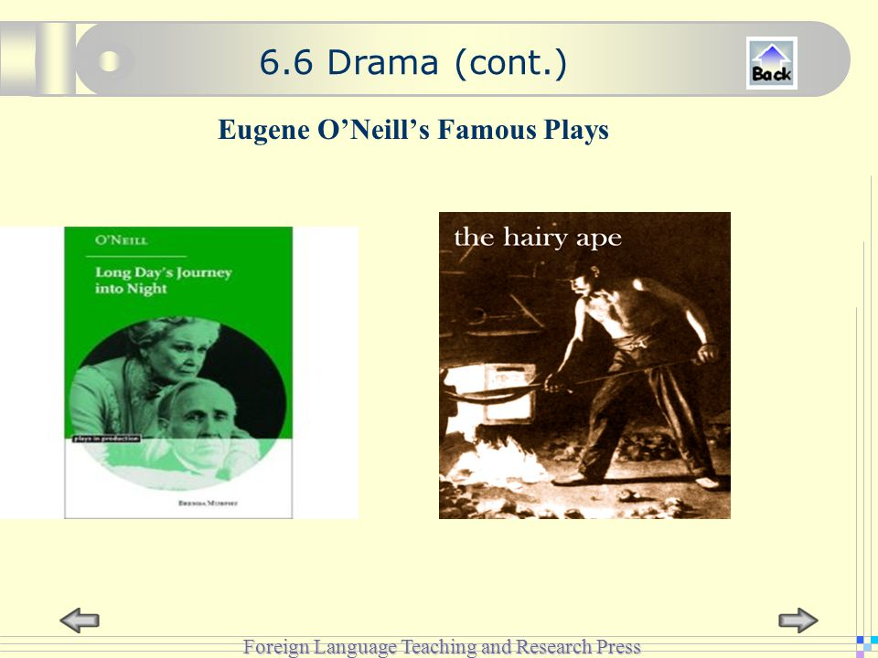 Foreign Language Teaching and Research Press Eugene O'Neill's Famous Plays 6.6 Drama (cont.)