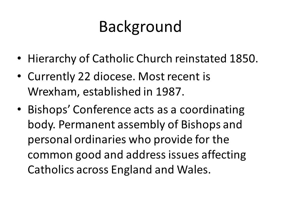 Does the Catholic Church in England and Wales have a heritage.