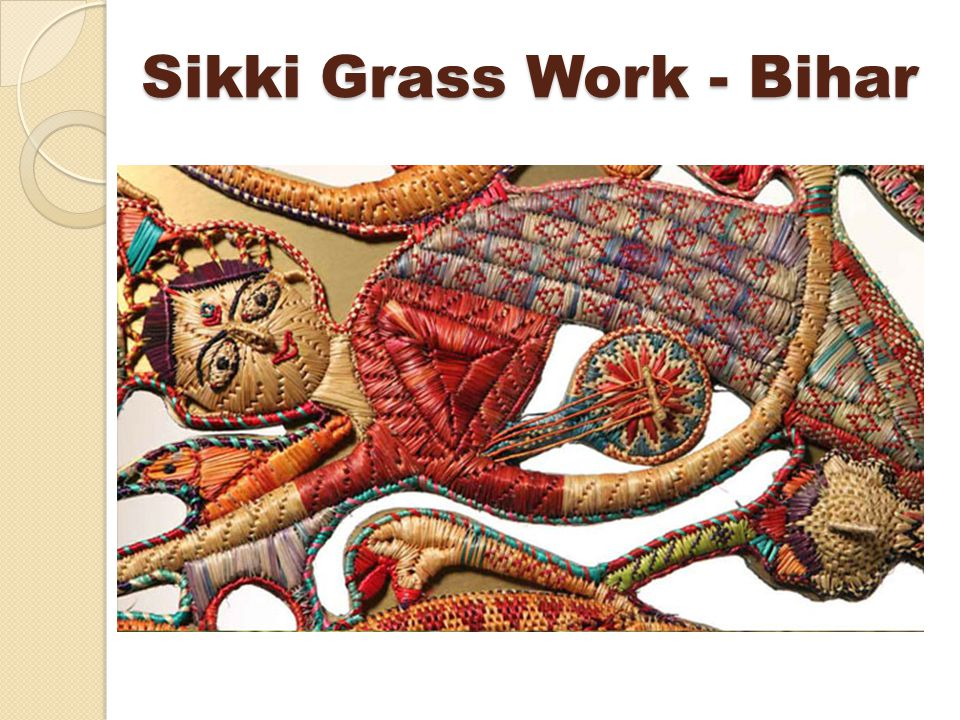 Sikki Grass Work - Bihar