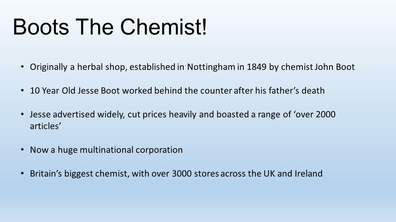 Boots The Chemist.