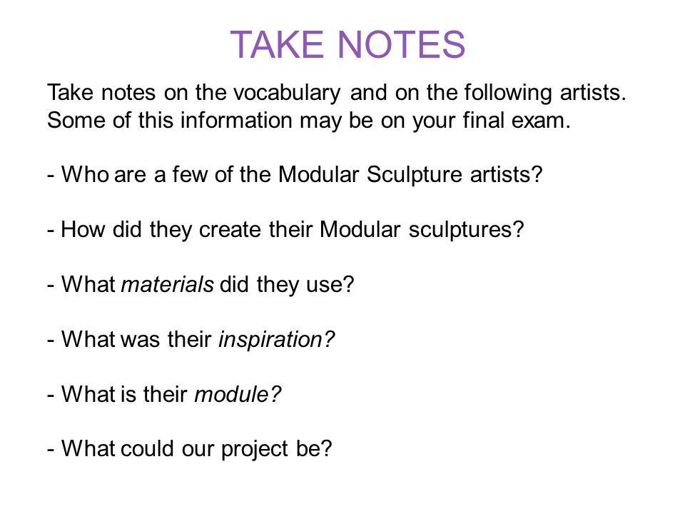 Modular Sculpture Module: Identical segments used to create a form.