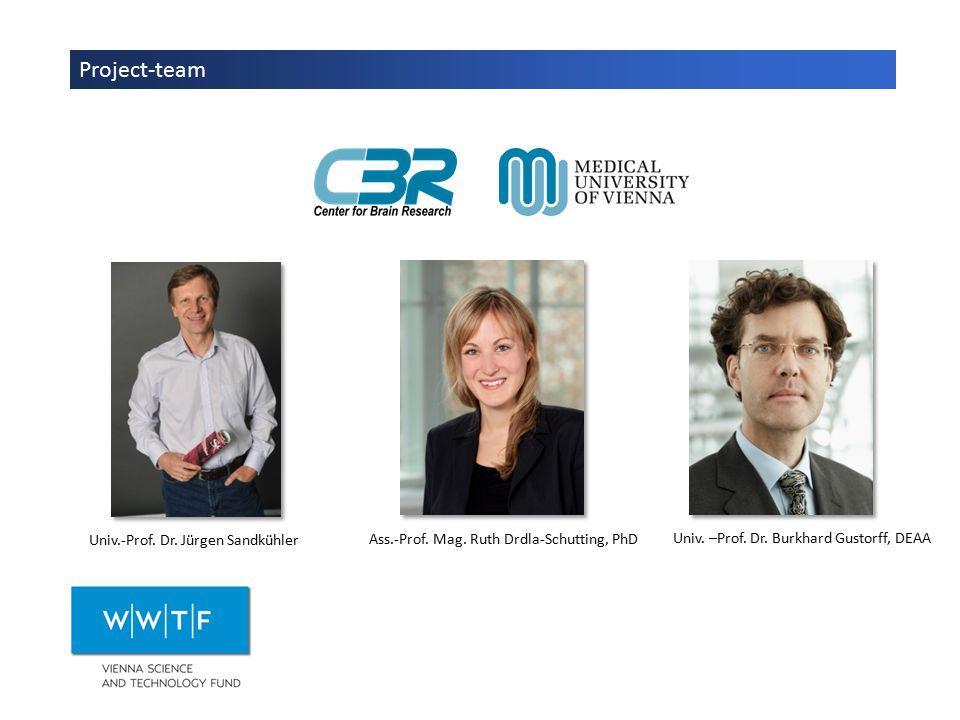 Project-team Univ.-Prof. Dr. Jürgen Sandkühler Ass.-Prof.