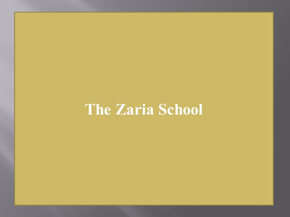 The Zaria School