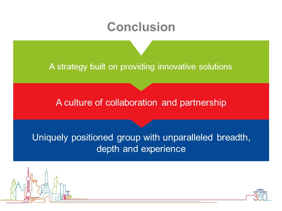 Uniquely positioned group with unparalleled breadth, depth and experience A culture of collaboration and partnership A strategy built on providing inn