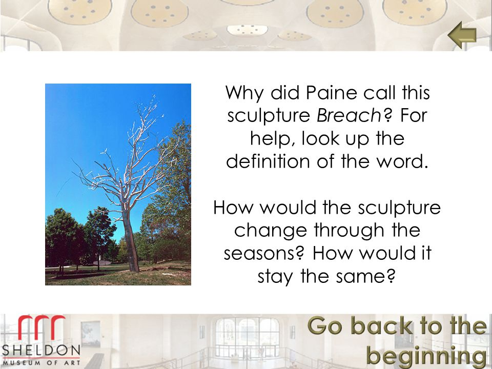 Why did Paine call this sculpture Breach.For help, look up the definition of the word.