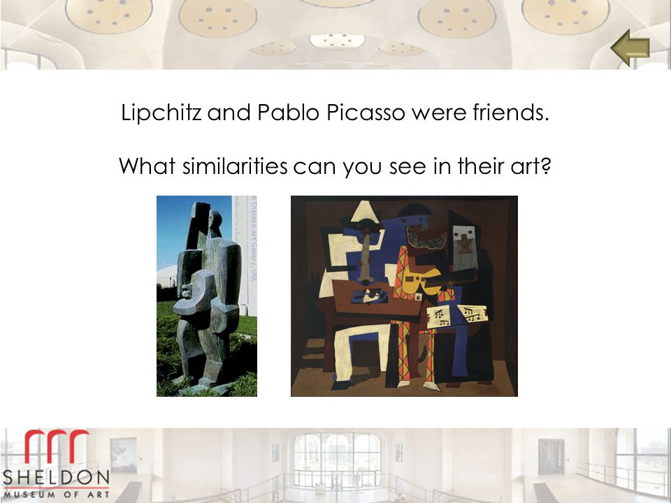 Lipchitz and Pablo Picasso were friends. What similarities can you see in their art?