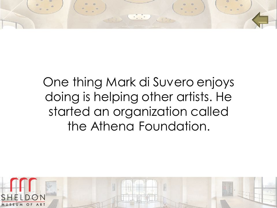 One thing Mark di Suvero enjoys doing is helping other artists.