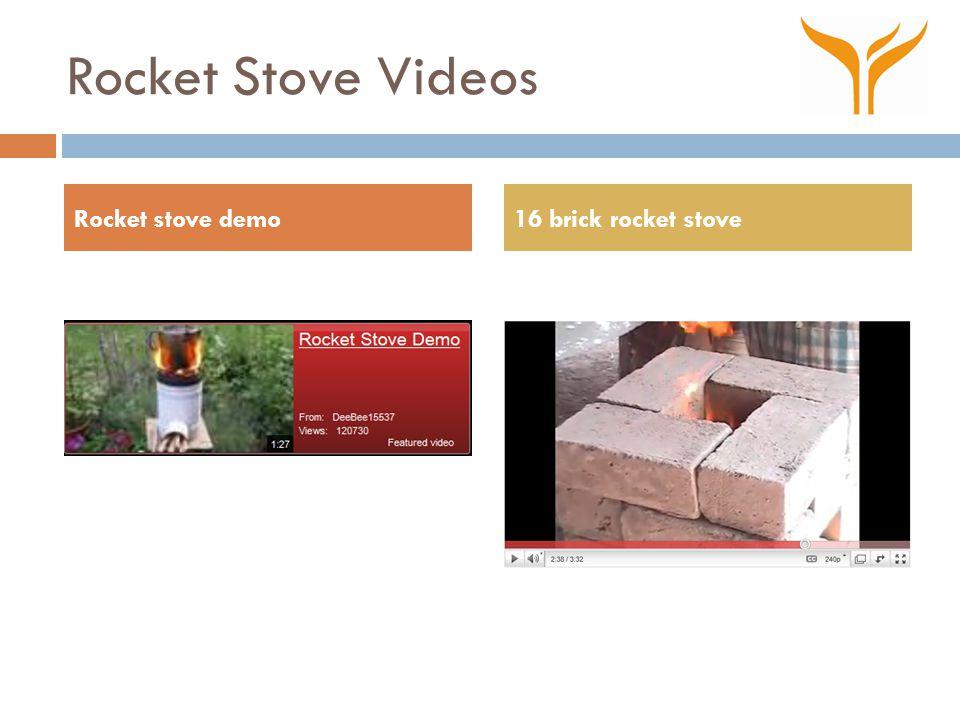 Rocket Stove Videos Rocket stove demo16 brick rocket stove