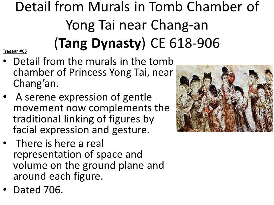 Detail from Murals in Tomb Chamber of Yong Tai near Chang-an (Tang Dynasty) CE 618-906 Tregear #65 Detail from the murals in the tomb chamber of Princess Yong Tai, near Chang'an.