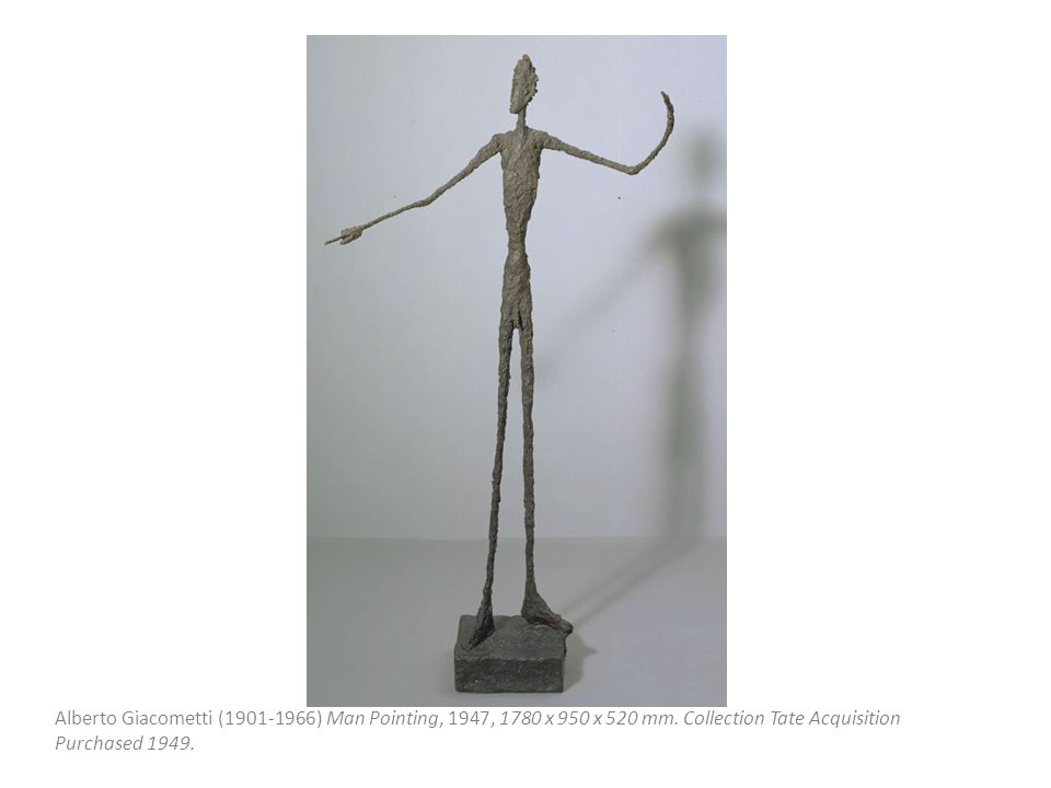 Alberto Giacometti (1901 ‑ 1966) Man Pointing, 1947, 1780 x 950 x 520 mm.