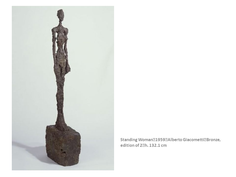 Standing Woman 1959 Alberto Giacometti Bronze, edition of 2 h. 132.1 cm