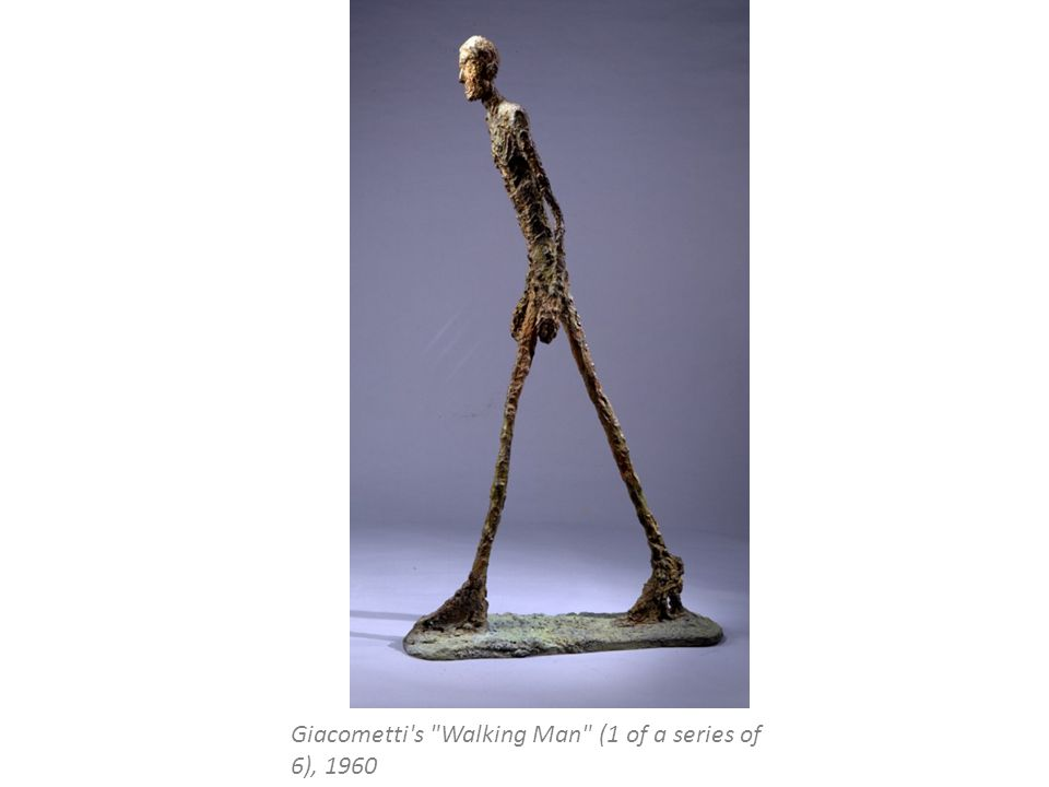 Giacometti s Walking Man (1 of a series of 6), 1960