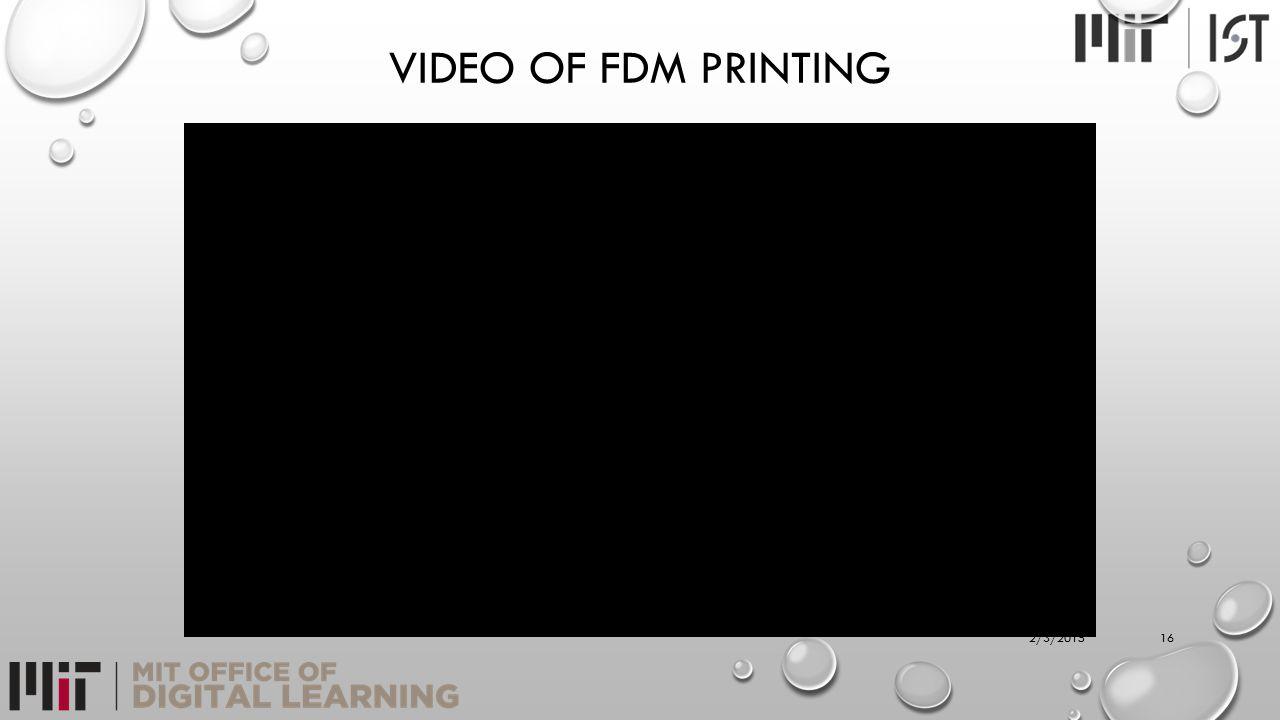 VIDEO OF FDM PRINTING 162/3/2015