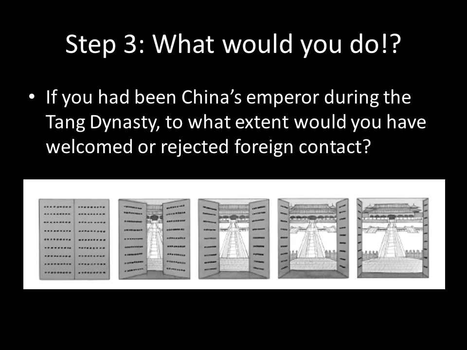 Step #4: What did the emperor actually do.