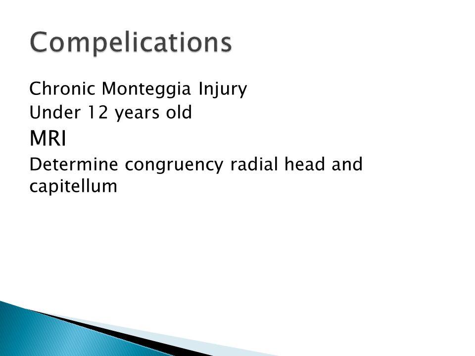 Chronic Monteggia Injury Under 12 years old MRI Determine congruency radial head and capitellum