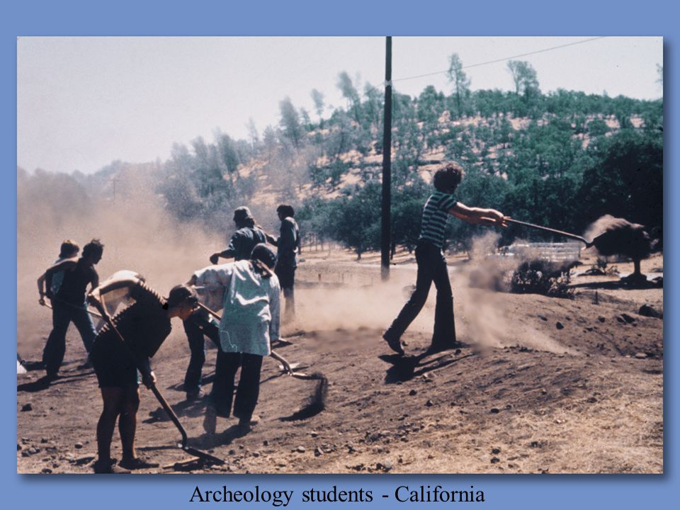 Archeology students - California