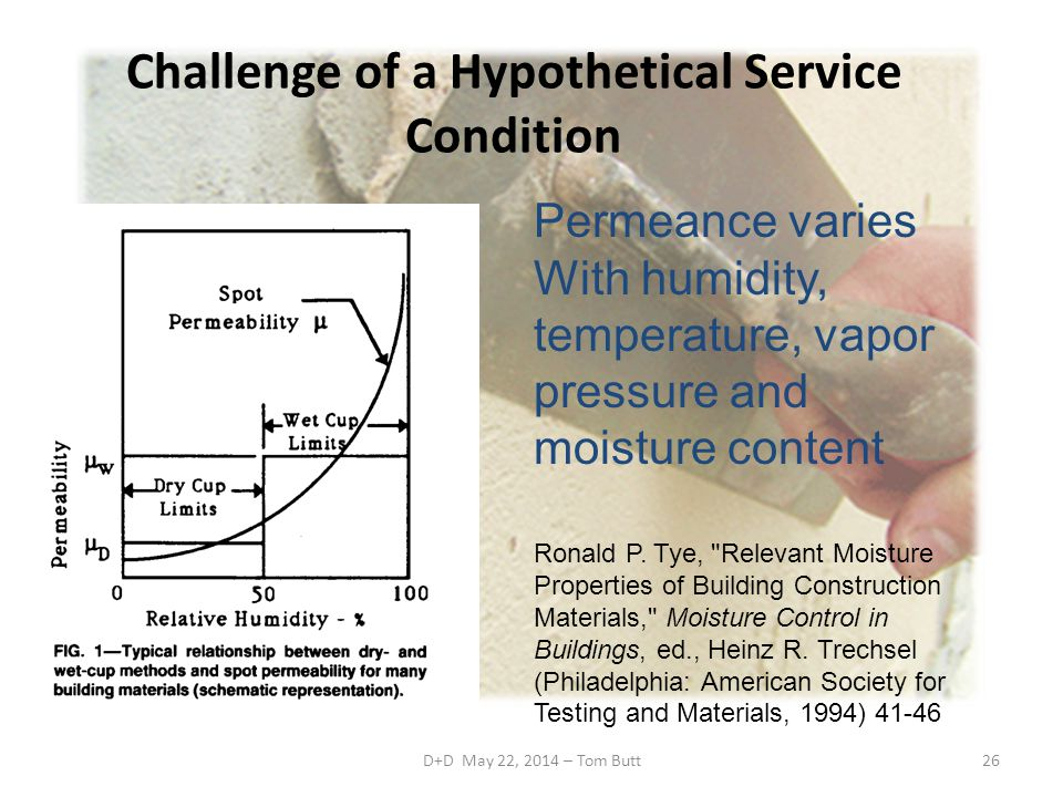 D+D May 22, 2014 – Tom Butt26 Challenge of a Hypothetical Service Condition Ronald P.