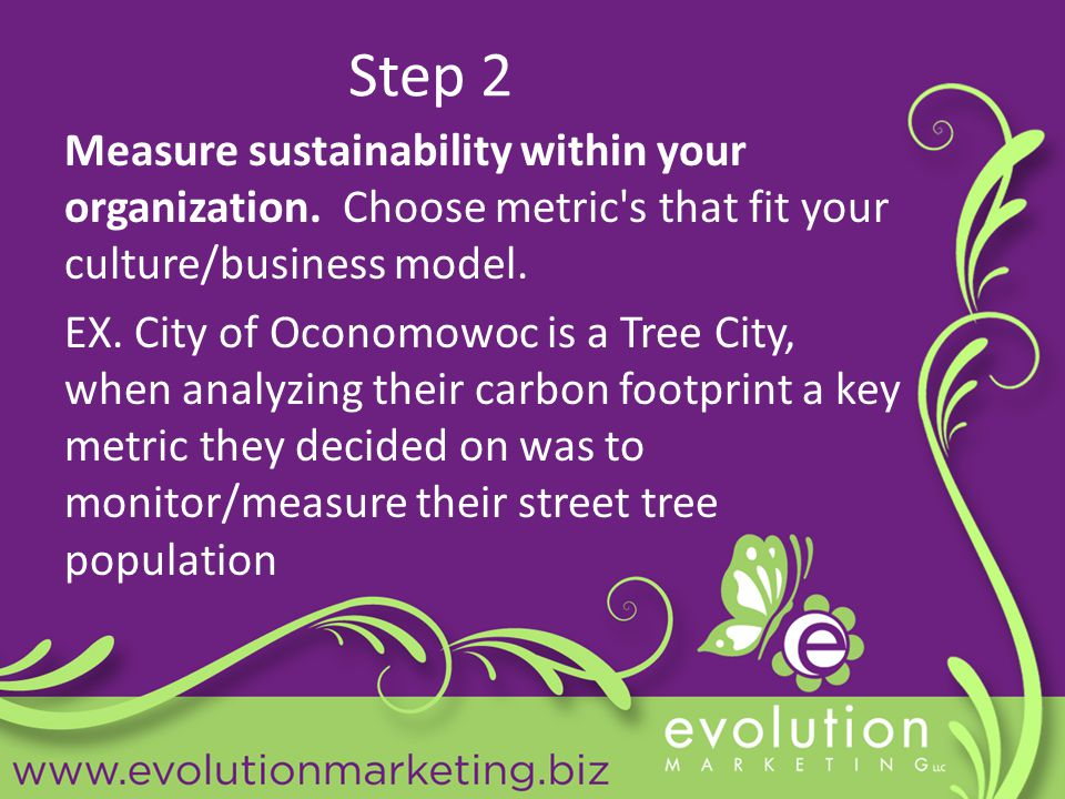 Step 2 Measure sustainability within your organization.