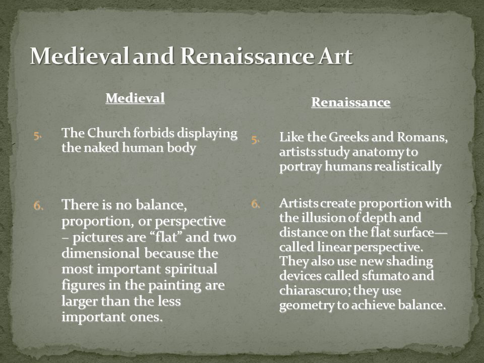 Medieval 3. European art was the property of the Church – often religious themes, individuals were not important—paintings not signed 3. Tempura paint
