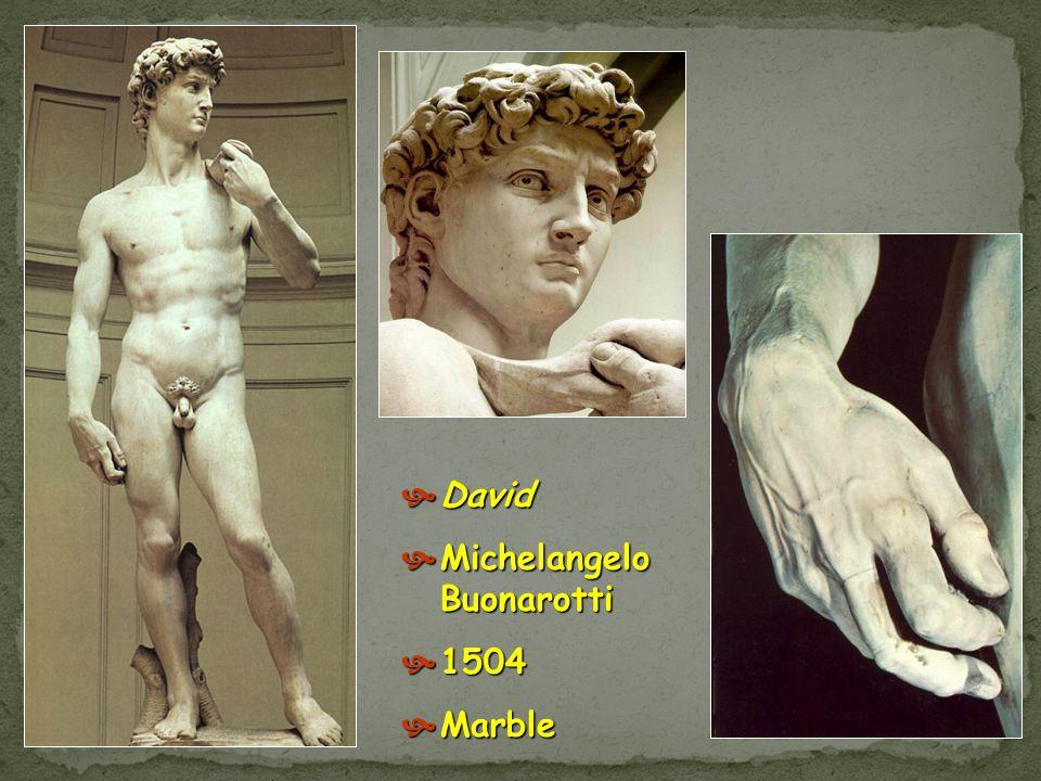 David Verrocchio 1473 - 1475 David Verrocchio 1473 - 1475