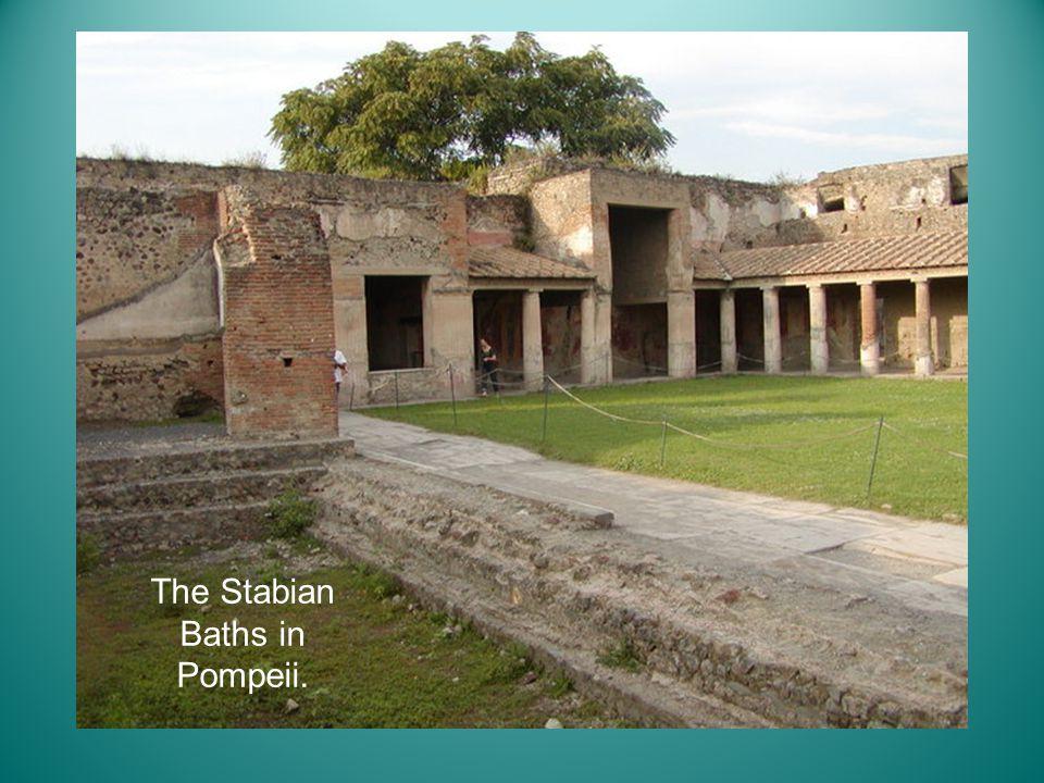 The Stabian Baths in Pompeii.