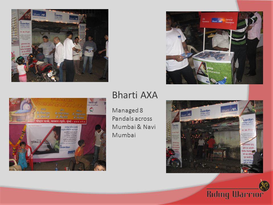 Bharti AXA Managed 8 Pandals across Mumbai & Navi Mumbai
