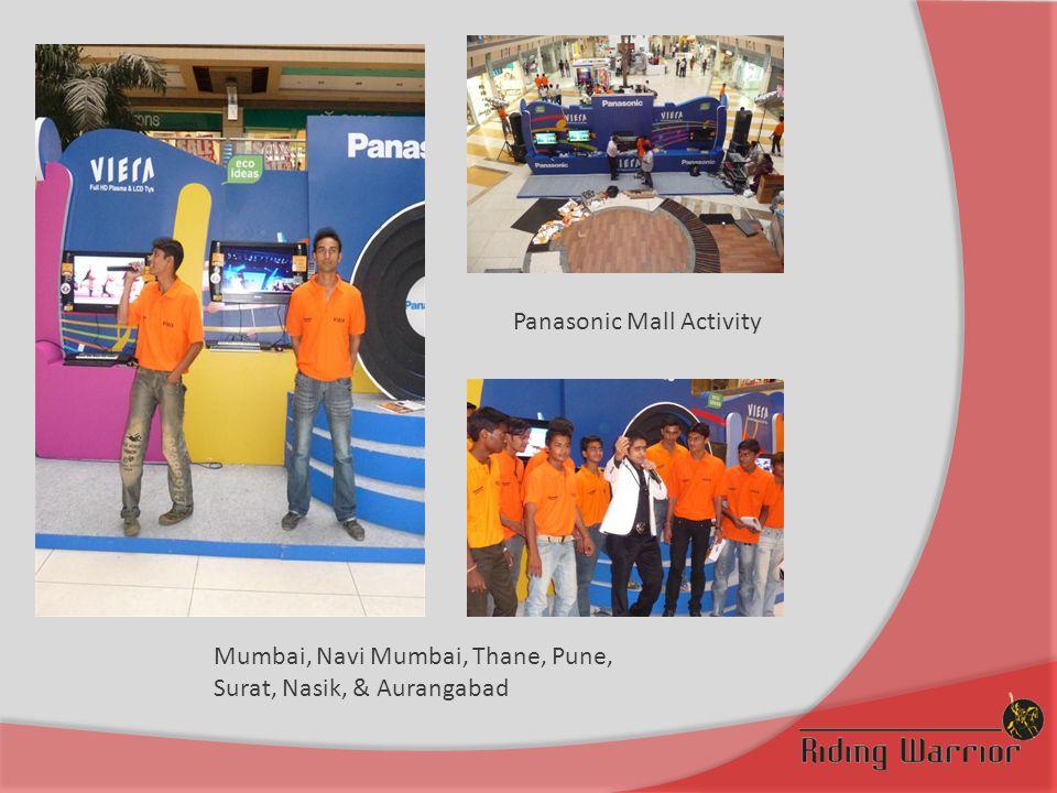 Panasonic Mall Activity Mumbai, Navi Mumbai, Thane, Pune, Surat, Nasik, & Aurangabad