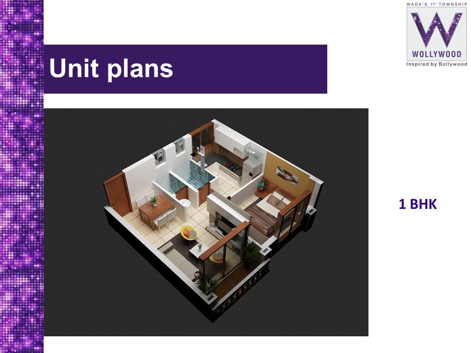 Unit plans 1 BHK