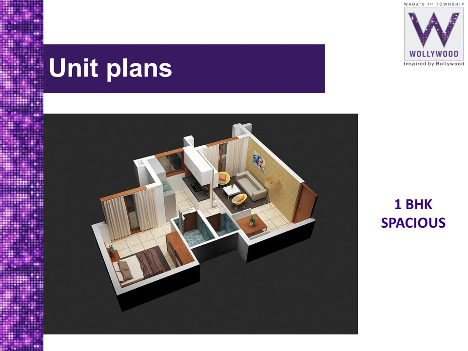 Unit plans 1 BHK SPACIOUS