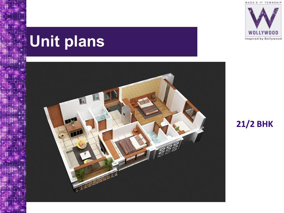 Unit plans 21/2 BHK