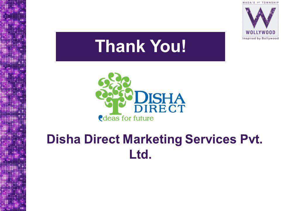 Thank You! Disha Direct Marketing Services Pvt. Ltd.