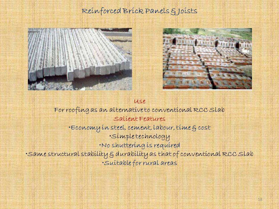 RCC Planks & Joists Use For structural roofing in load bearing structure & framed structures. Salient Features Sturdy & higher strength Dimensional re