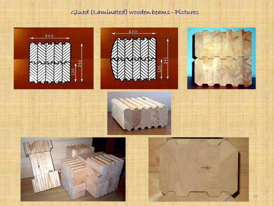 Glued (Laminated) wooden beams Using of laminated beams as a material for walls isn't a novelty yet. Log houses made of laminated beam become more and