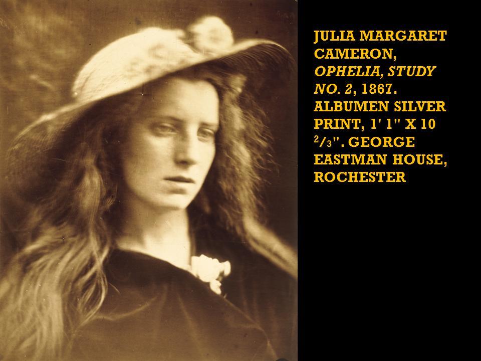 JULIA MARGARET CAMERON, OPHELIA, STUDY NO. 2, 1867.