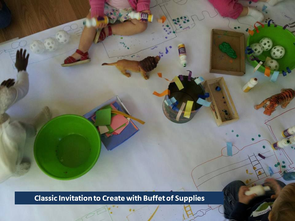 Classic Invitation to Create with Buffet of Supplies