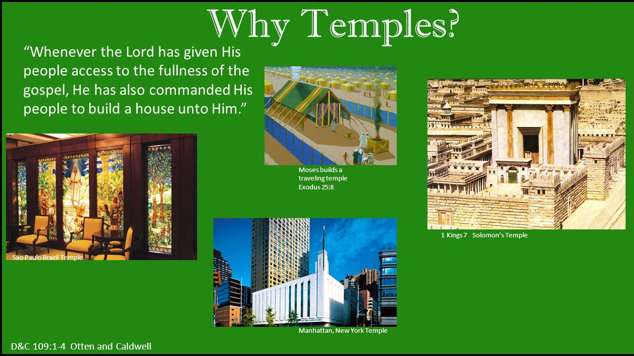 Why Temples.