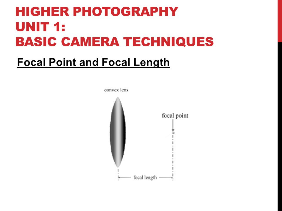 HIGHER PHOTOGRAPHY UNIT 1: BASIC CAMERA TECHNIQUES Focal Point and Focal Length