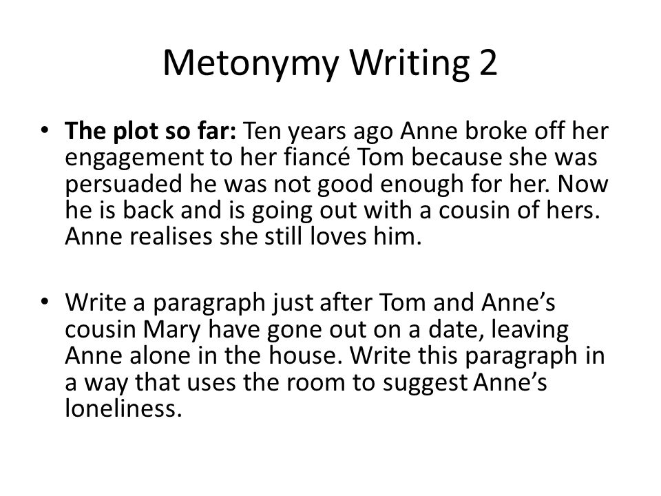 The plot so far: Ten years ago Anne broke off her engagement to her fiancé Tom because she was persuaded he was not good enough for her.