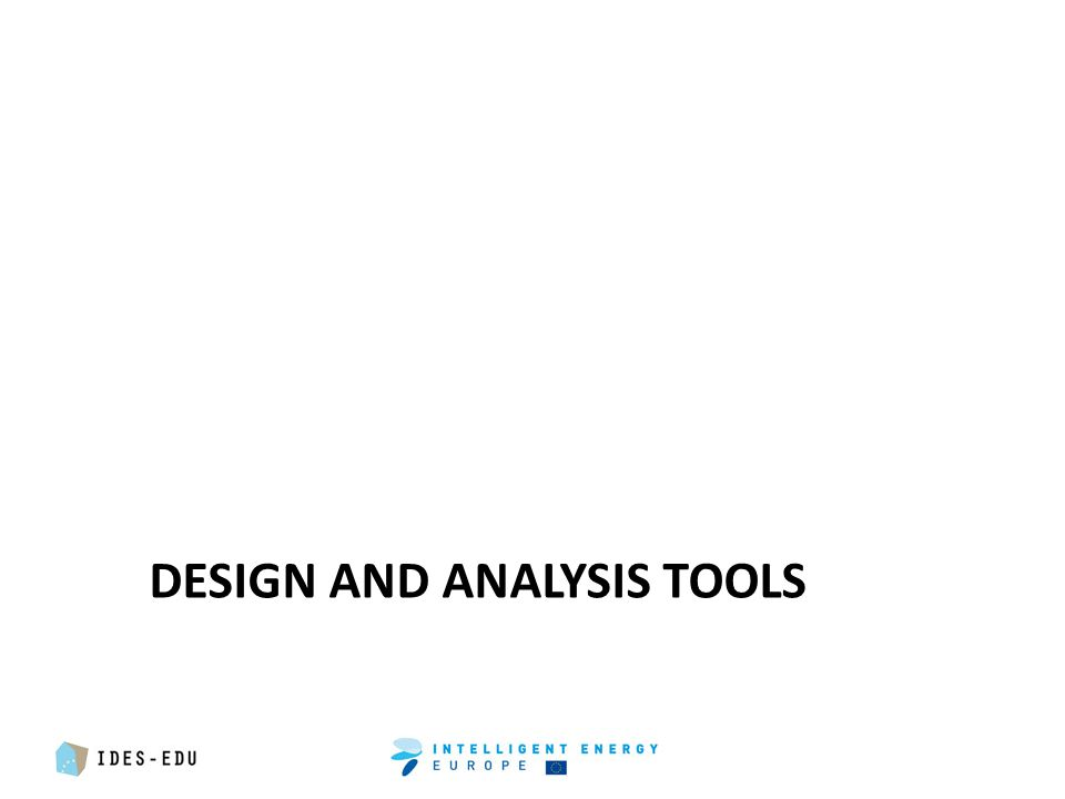 DESIGN AND ANALYSIS TOOLS