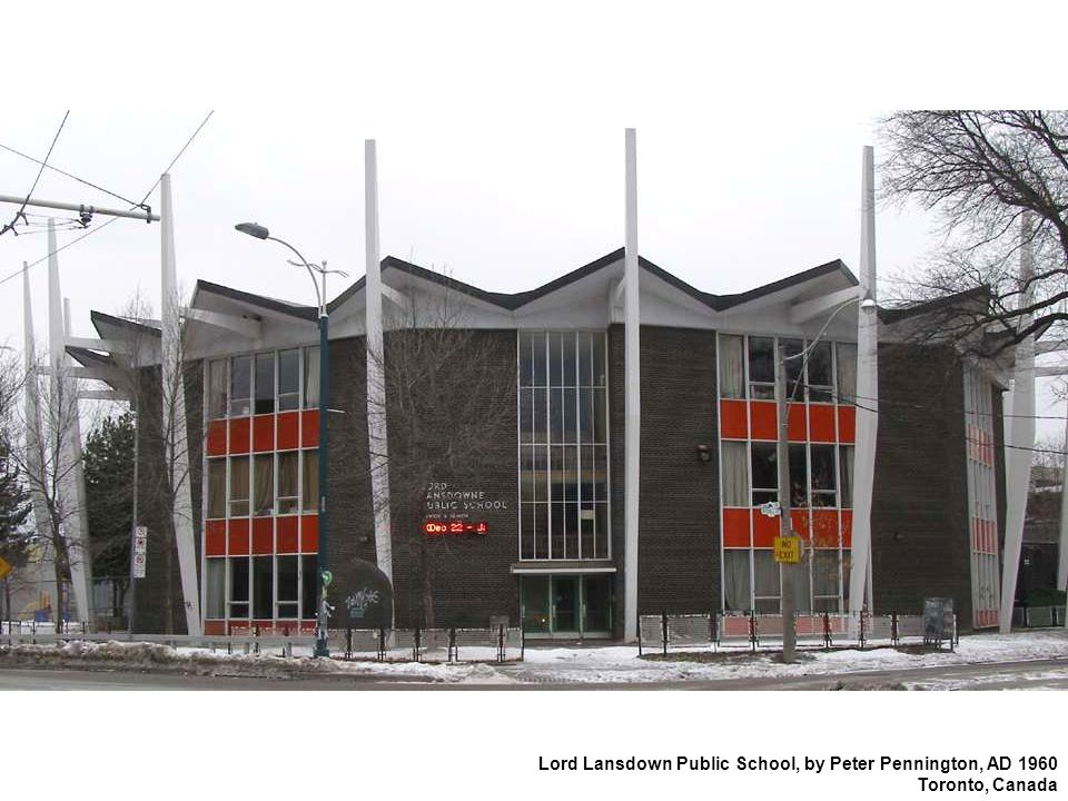 Lord Lansdown Public School, by Peter Pennington, AD 1960 Toronto, Canada