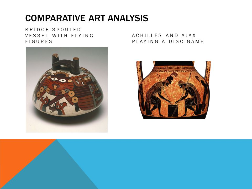 COMPARATIVE ART ANALYSIS BRIDGE-SPOUTED VESSEL WITH FLYING FIGURES ACHILLES AND AJAX PLAYING A DISC GAME