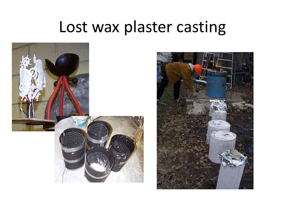 Lost wax plaster casting