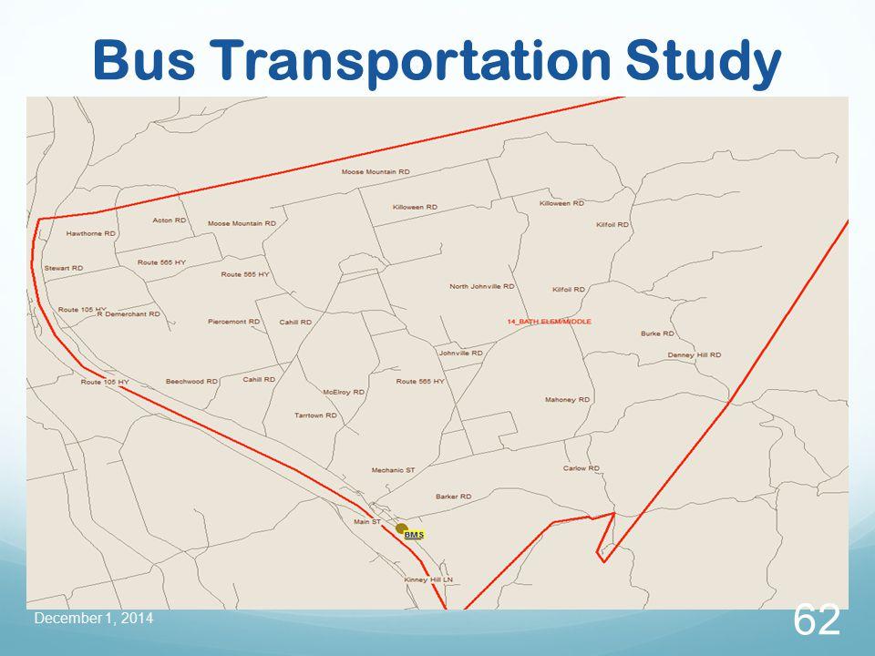 Bus Transportation Study December 1, 2014 62
