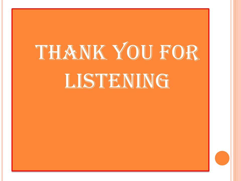 Thank You FOR LISTENING Thank You FOR LISTENING