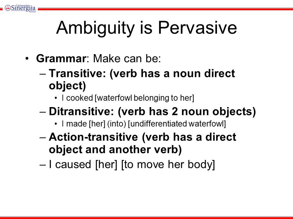 Ambiguity is Pervasive Phonetics.