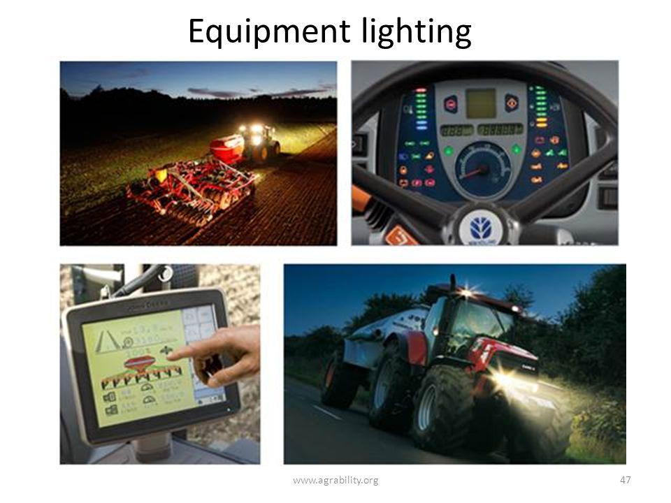 Equipment lighting www.agrability.org47