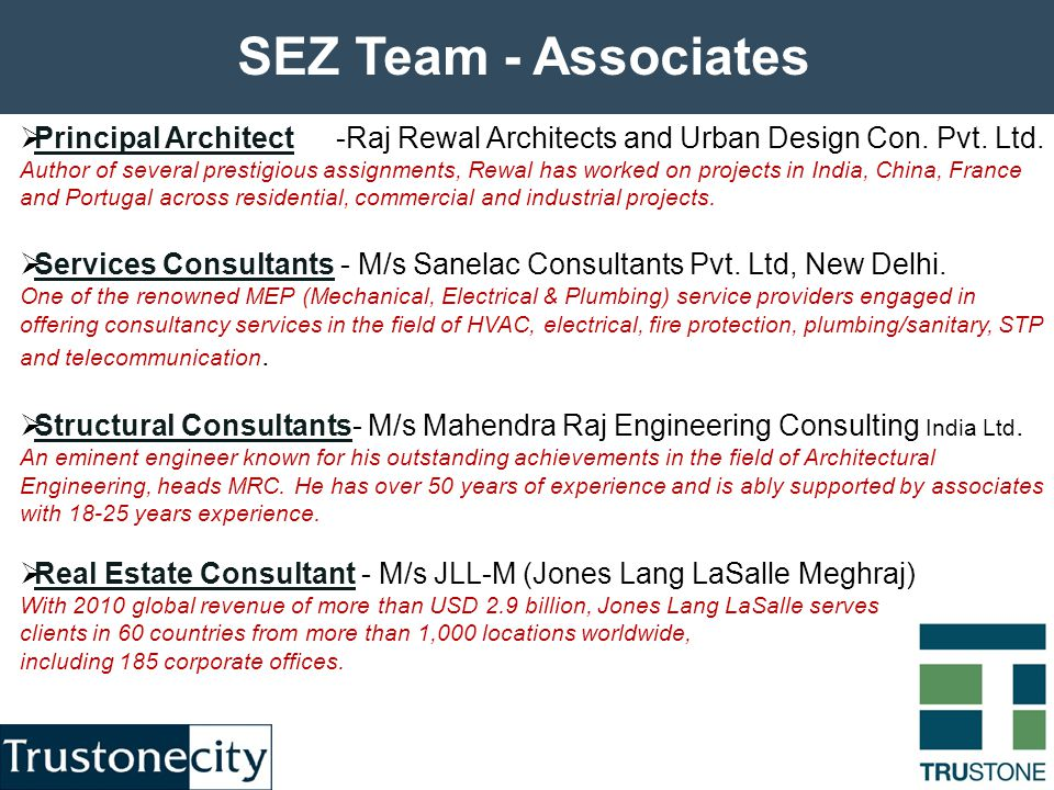  Principal Architect -Raj Rewal Architects and Urban Design Con.