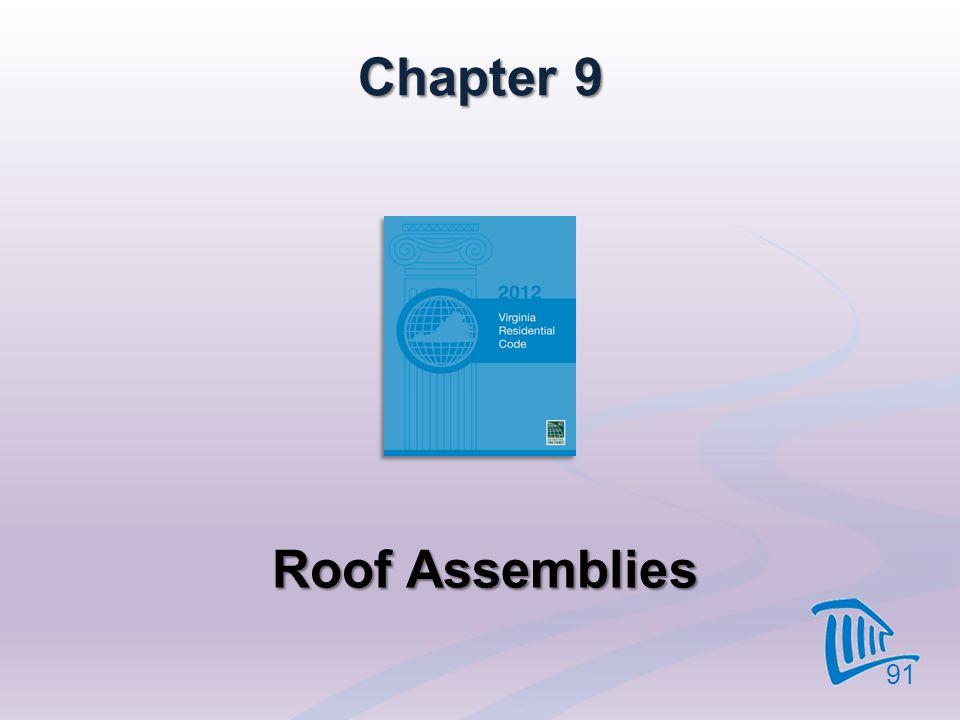 Chapter 9 Roof Assemblies 91